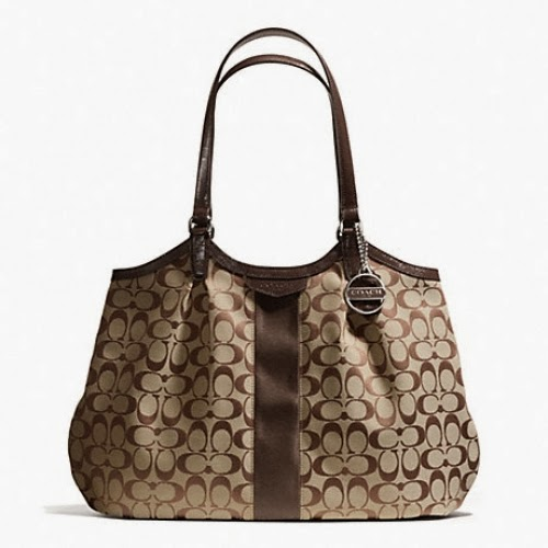 COACH Signature Stripe Shoulder Bag 28503