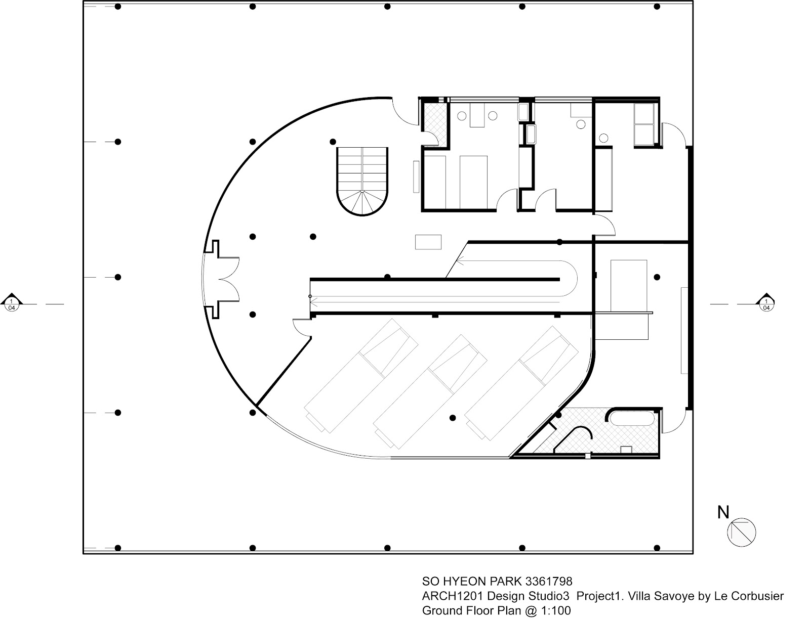 Posted by Sohyeon Park  Chloe  at 6 10 AMVilla Savoye 2nd Floor Plan