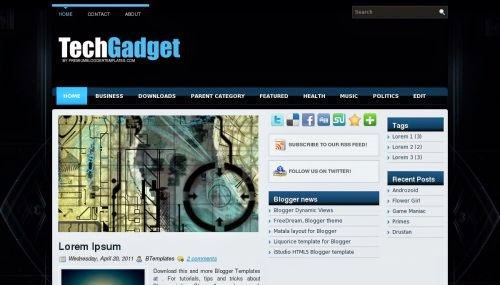 TechGadget - Free Blogger Template