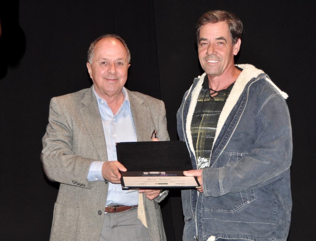 Jorge Bragança e Carlos Veríssimo, que recebeu o certificado em nome da Soarte