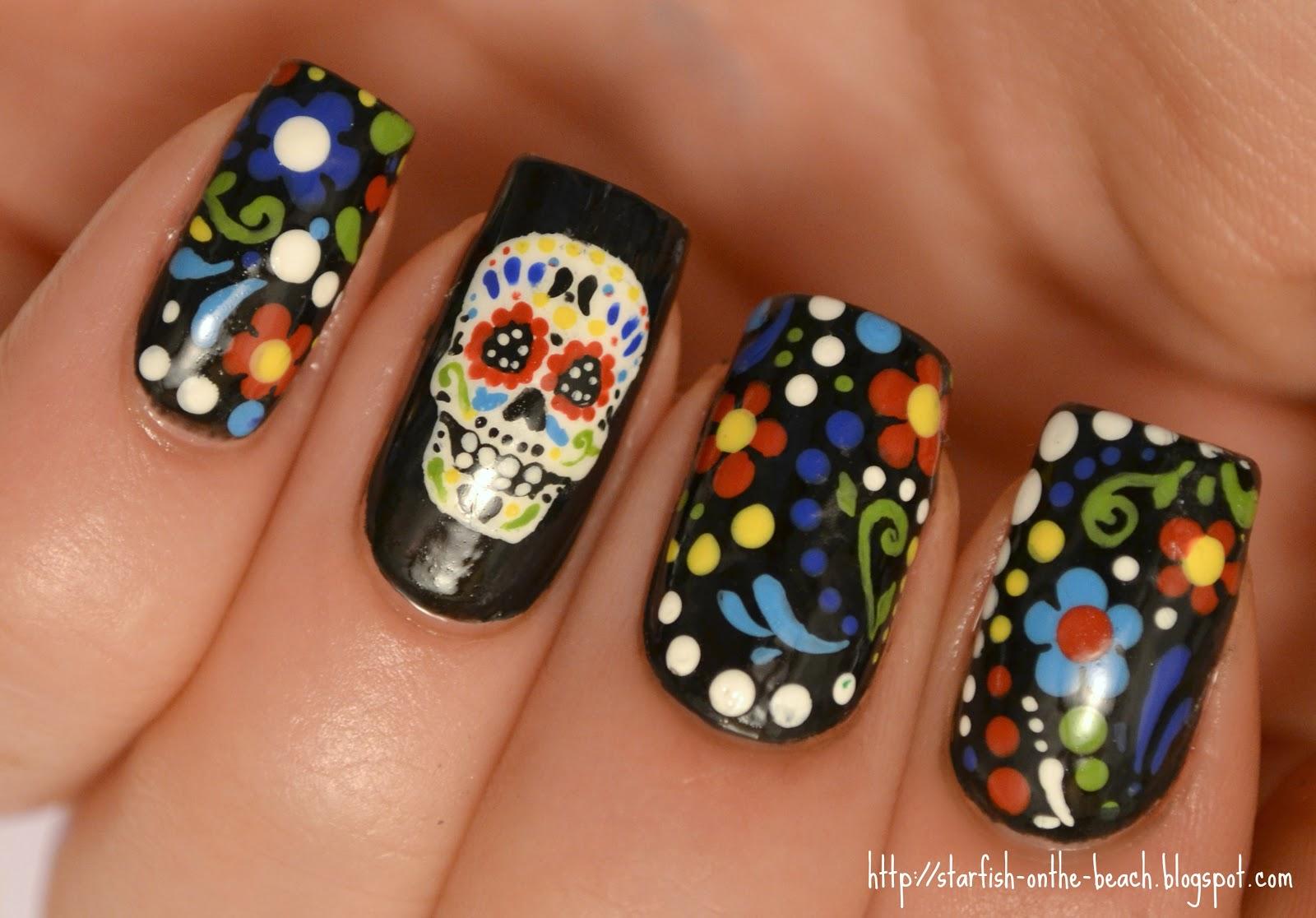 31 extraordinary Dia De Los Muertos Nail Art – ledufa.com