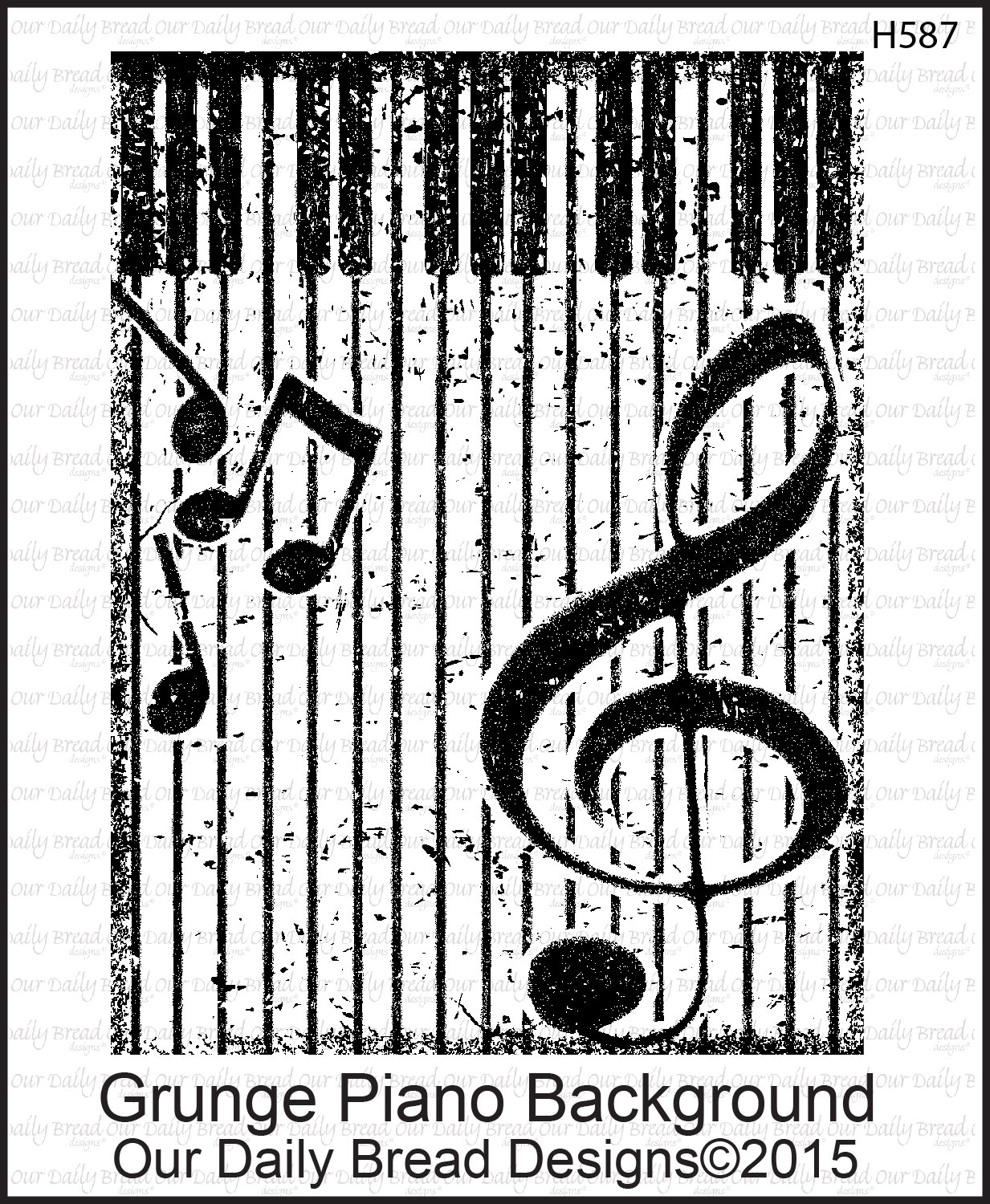 Stamps - Our Daily Bread Designs Grunge Piano Background