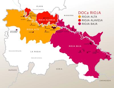 Plano de la Denominación de Origen Calificada Rioja