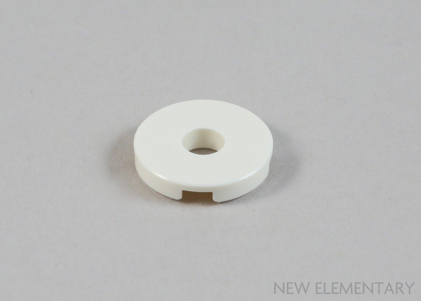 LEGO 15535 NEW 2x2 Dark Bluish Grey Flat Round Plates With Hole 4 Pieces