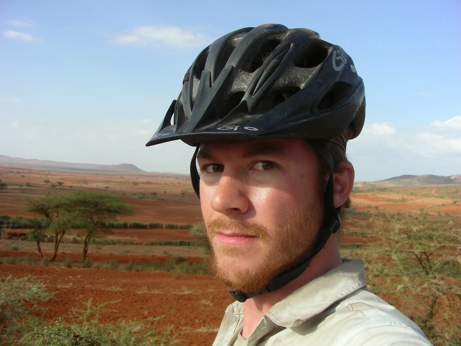 Kyle Henning cycling in Ethiopia, 2011: