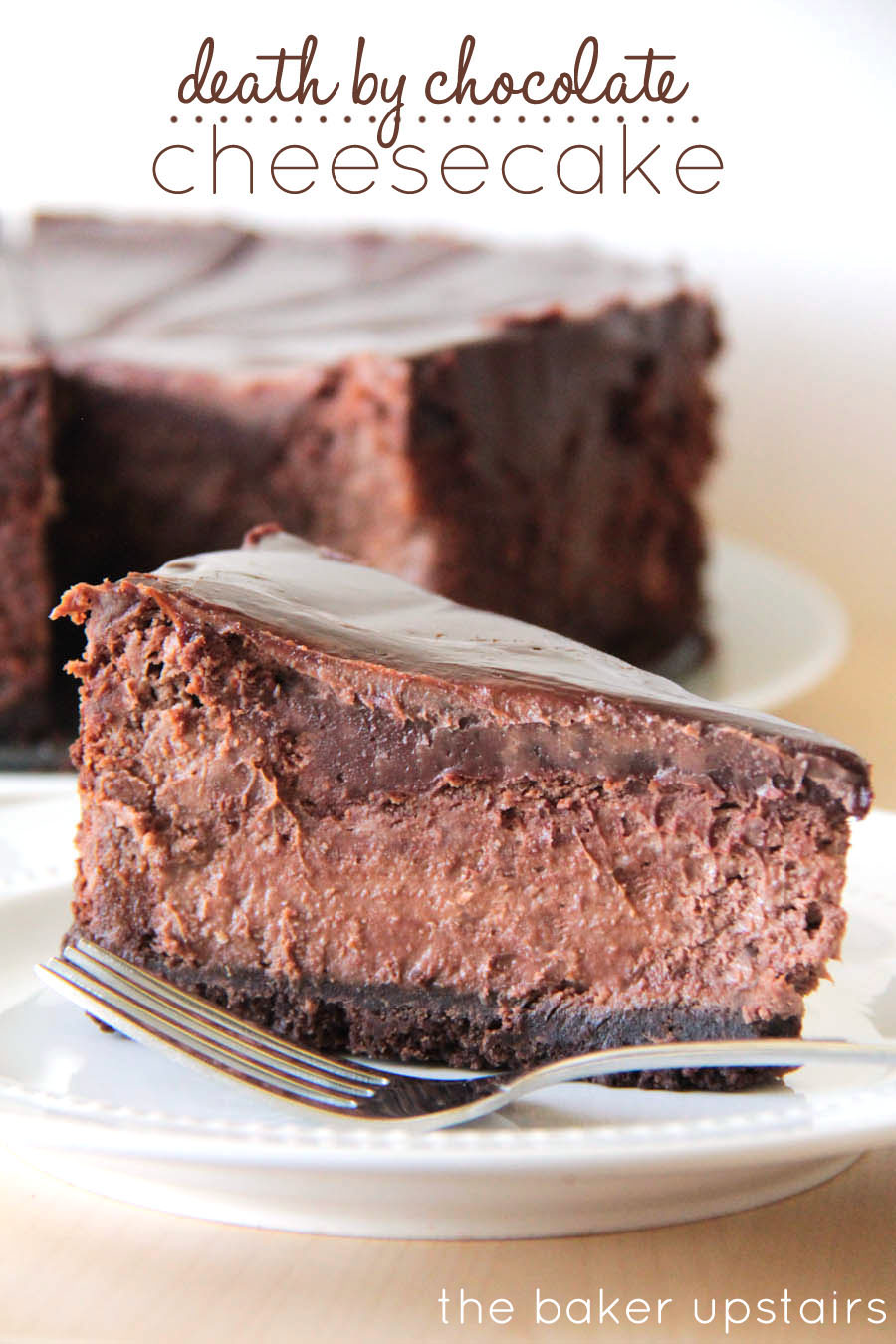 the baker upstairs death by chocolate cheesecake. Black Bedroom Furniture Sets. Home Design Ideas