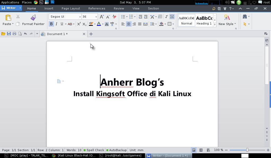 Cara Install Kingsoft Office di Kali Linux Anherr Blog's