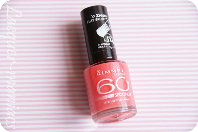 Rimmel 60 seconds - 415 In style coral [swatche]