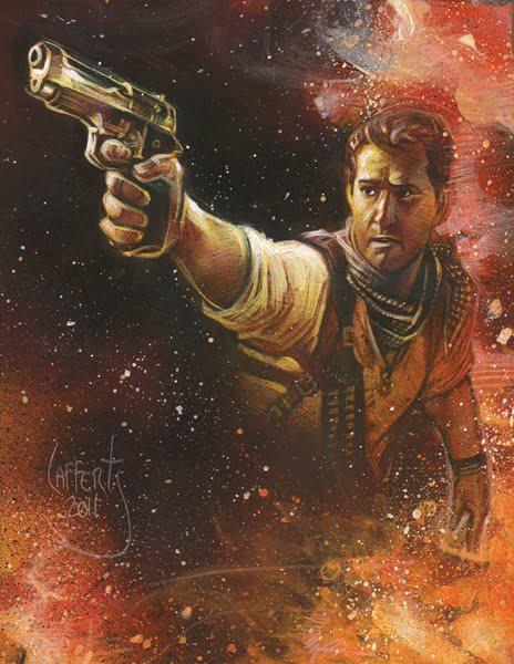 Uncharted 3 Original art by Jeff Lafferty