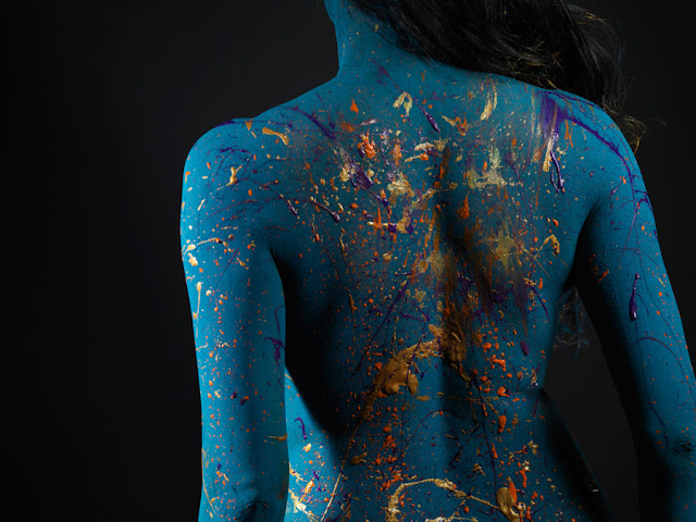 nude veena malik body paint