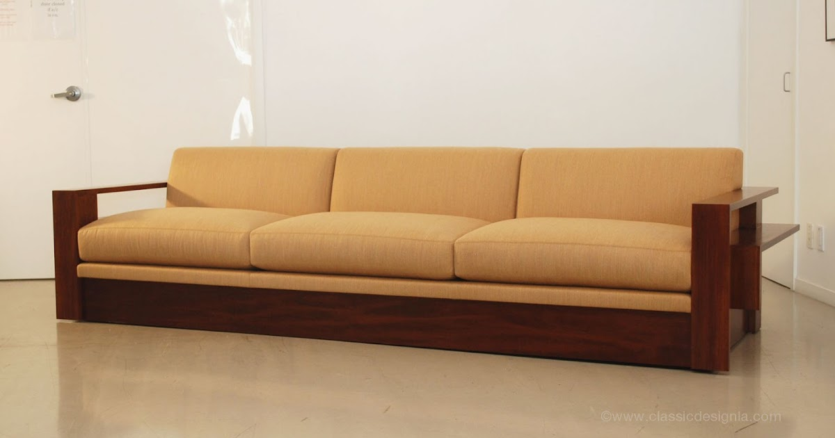 Classic design custom wood frame sofa for Design sofa