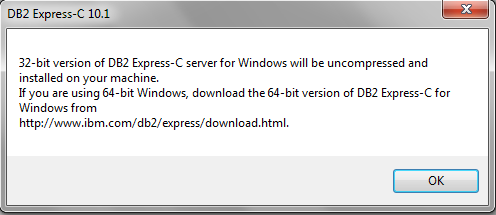 instalasi DB2 32 bit