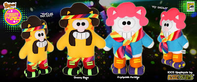 "San Diego Comic-Con 2015 Exclusive ""The Funky Felines"" Plushes by Furry Feline Creatives - ""Psycedelic"" Purridge & ""Groovy"" Ringo"