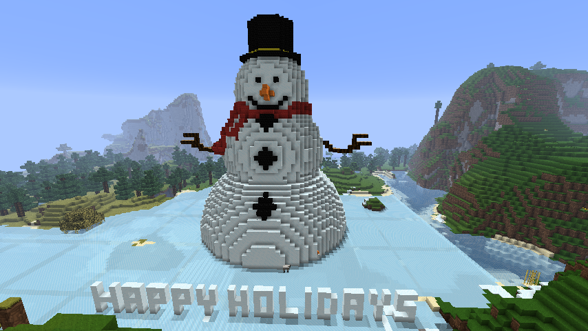 Cool Minecraft Xbox 360 Build, Christmas snowman