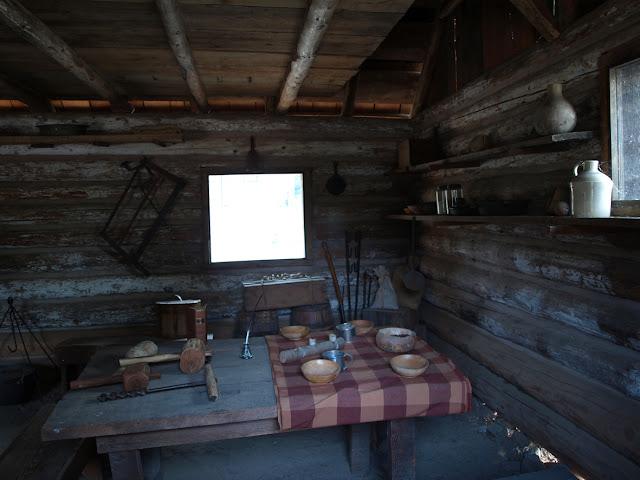 Cabaña de mineros mormones en el Marshall Gold Discovery SHP de Coloma