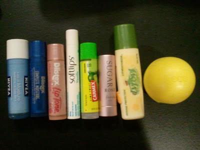 nivea, blistex, softlips, carmex, fresh, lypsyl, eos