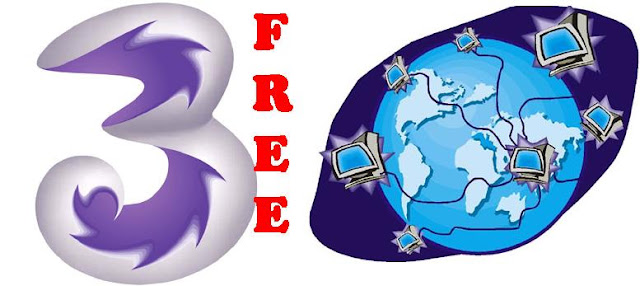 Trik Internet Gratis Three via PC 2012
