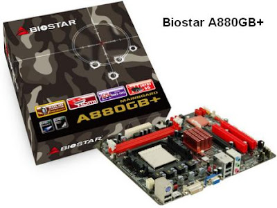 Biostar A880GB+ cheap AM3 motherboard
