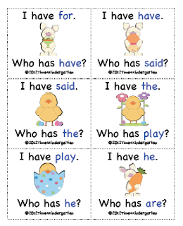 games for sight words kindergarten
