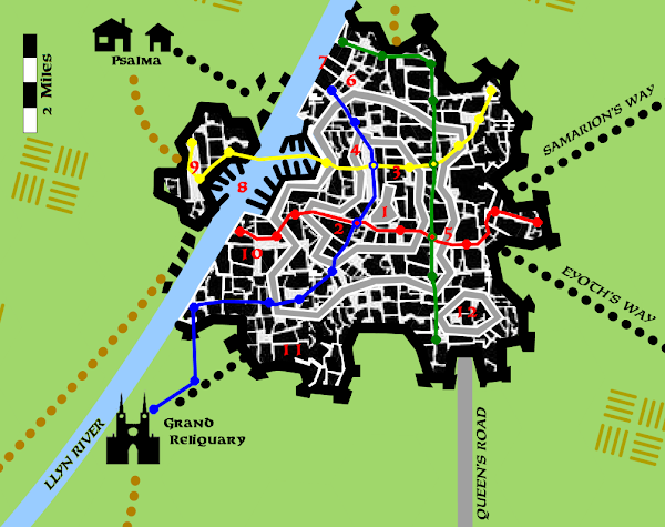 Map Bettellyn Citadel Ley Lines