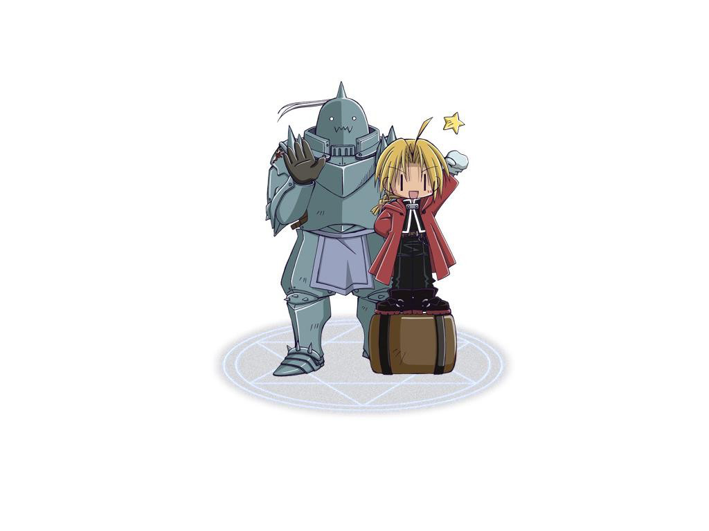 Edward Elric Alphonse Fullmetal Alchemist Anime Chibi HD Wallpaper Desktop PC Background 1379