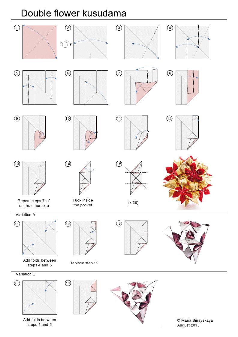 Sinayskaya) (Maria origami flower kusudama glue no double kusudamaAddicts: kusudama