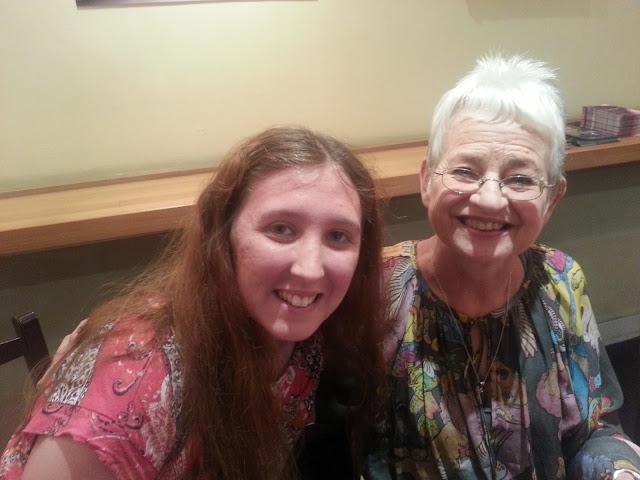 Jacqueline Wilson with Fan