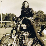Lemmy Kilmister of Motorhead celeb on motorcycles
