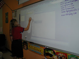 Seventh Graders used the Interactive Board to Answer Review Questions