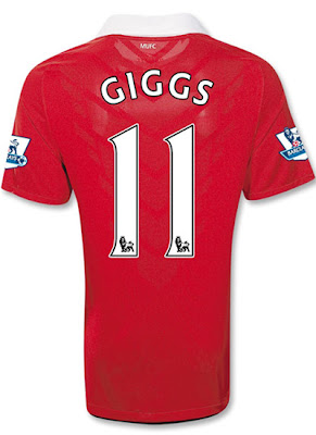 Ryan Giggs Home Jersey Manchester United 2011