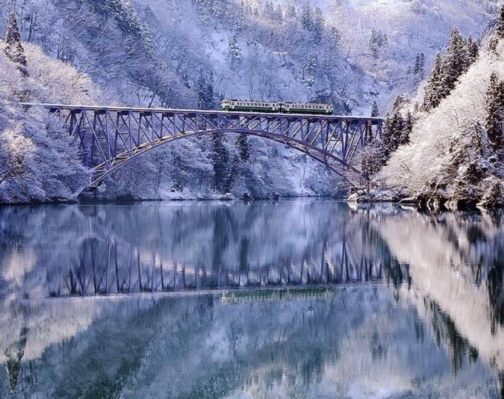 The Tadami River in Fukushima, Japan
