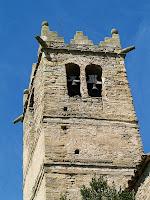 El campanar de l'església de Sant Andreu de Gurb