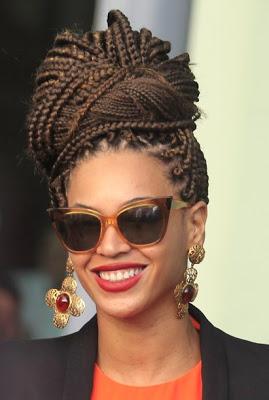 Beyoncé en la Habana, peinado afro