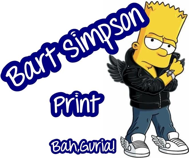 bah guria bart simpson print