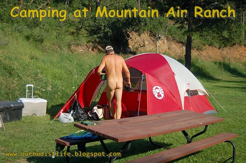 Guy Purcella camping nude