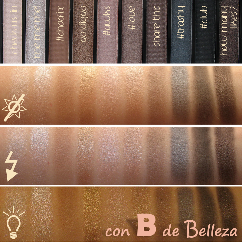 Swatches Paleta Selfie I heart makeup