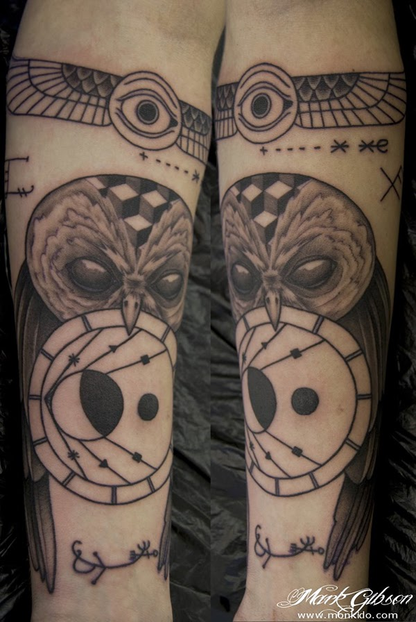 Owl Tattoo Forearm