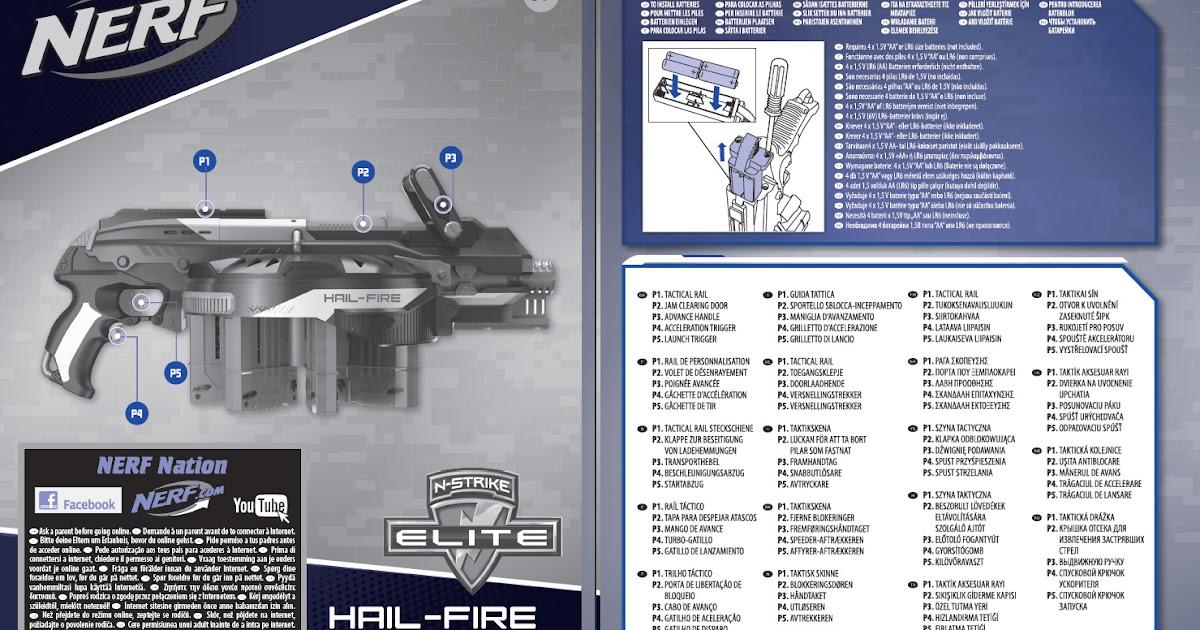 Sg Nerf Nerf N Strike Elite Hail Fire Instruction Manual