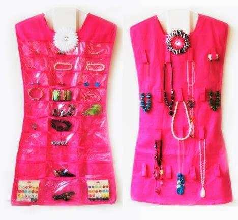 DIYGajet Hanging Jewelry Organizer 2 Sided Little Dress RM17