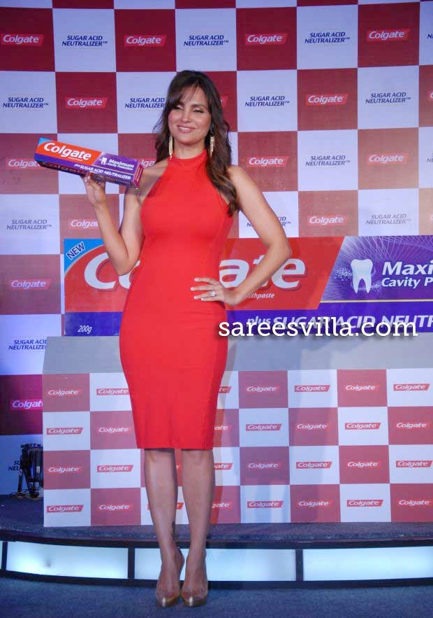 Lara Dutta at 'Colgate' toothpaste launch
