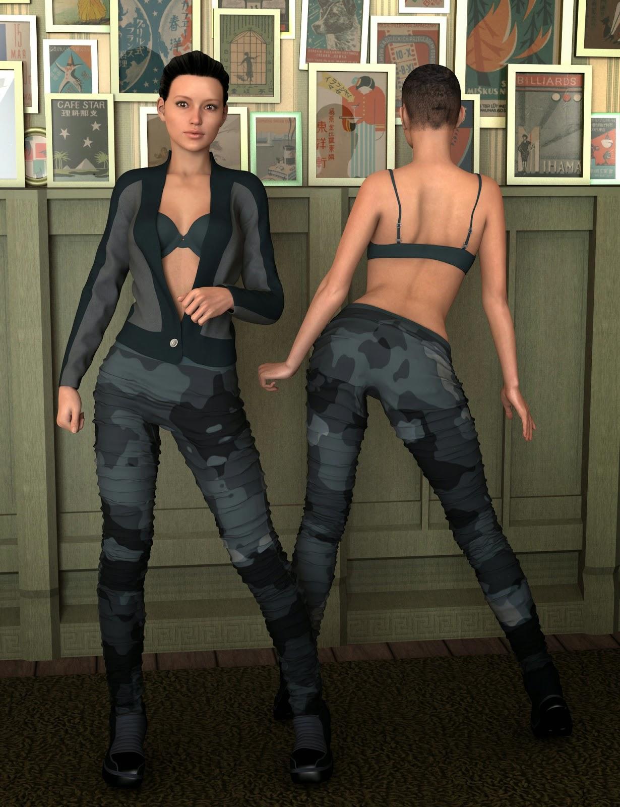 3d Models Art Zone - Army Brat for Genesis 2 Female(s)