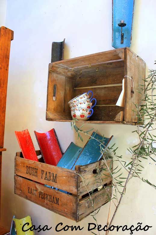 Dar um up na decoração usando caixotes reaproveitados