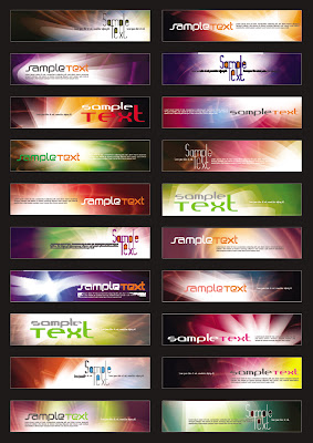20 Vector Vertical Banner Templates.eps