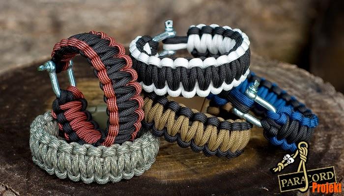 Bransoletka survivalowa z szeklą omega Survival Bracelet with Shackle
