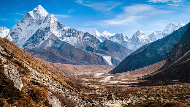 Ama Dablam Himalaya Mountains HD Wallpaper