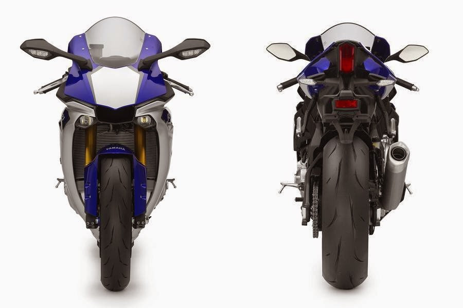 Yamaha YZF-R1 Race Blu (2015) Front and Rear