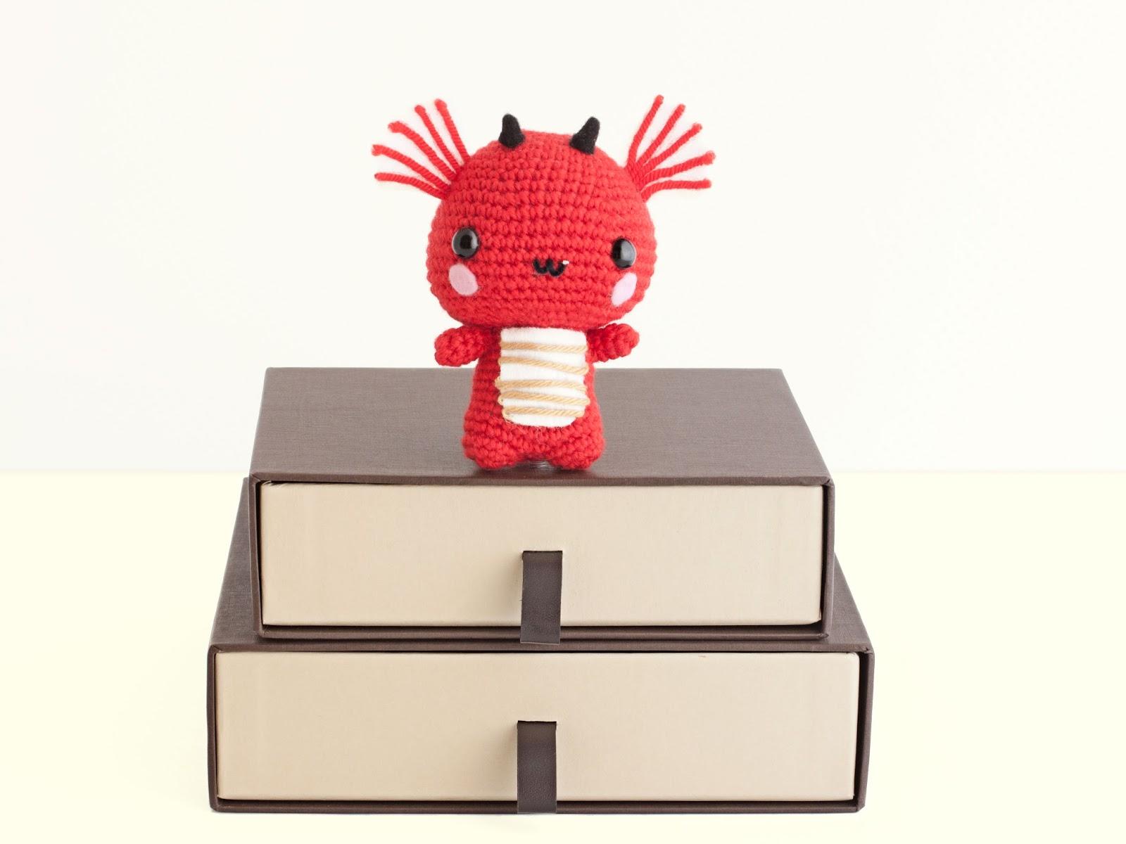 Dragon Rojo Amigurumi : Mis PequiCosas: Un dragon muy molon