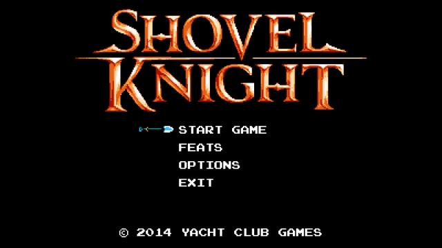 Shovel Knight title screen