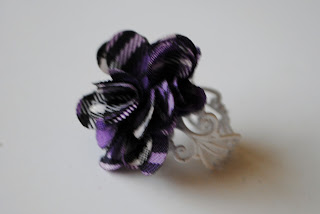 Purple Plaid Flower