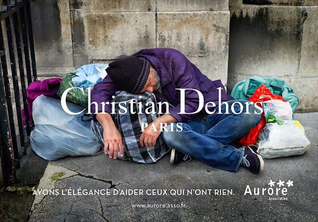Les marques de luxe détournées dans une campagne choc pour les sans-abris #christiandehors